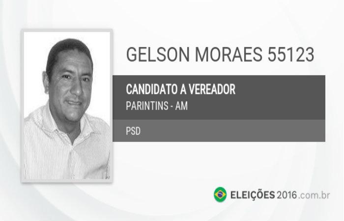 Gelson Moraes de Souza, que tenta se reeleger vereador pelo PSD. Foto: Reprodu