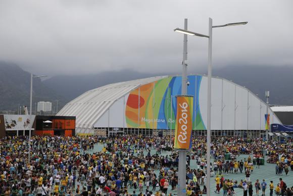 O Parque Olímpico, neste sábado, recebeu um público de 167 mil pessoas. Foto: Fernando Frazão/Agência Brasil
