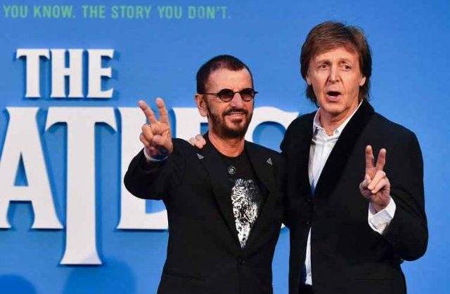 Paul McCartney e Ringo Starr se reencontram na estreia de documentário dos Beatles. Foto: Twitter/Reprodução