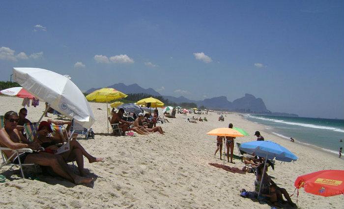 Praia na Barra da Tijuca, no Rio de Janeiro. Foto: Andr