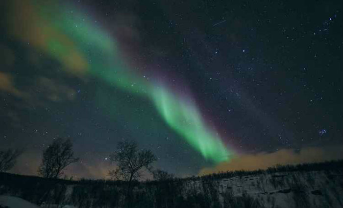 A Aurora Boreal é uma das grandes atrações do país. Foto: Marius Fiskum/Innovation Norway/Reprodução