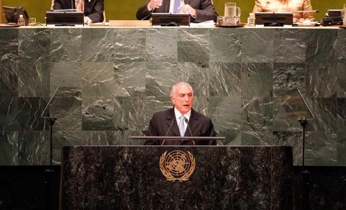O presidente Michel Temer abriu hoje a 71