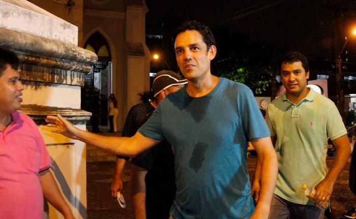 Daniel Coelho levou 1h17 minutos para chegar à Praça de Casa Forte. Foto: Ricardo Fernandes/DP