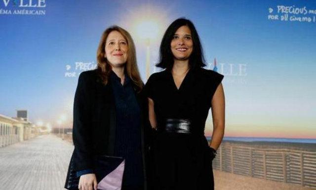 Clara e Julia Kuperberg posam para fotos no Festival do Filme Americano de Deauville, na França. Foto: AFP Photo/Divulgação