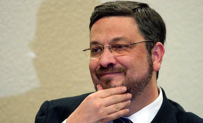 O ex-ministro da Fazenda, Antonio Palocci, depondo