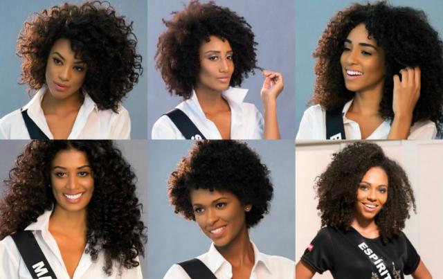 Apenas seis vencedoras das edições estaduais do concurso de miss em 2016 são negras. Fotos: Lucas Ismael/Divulgação