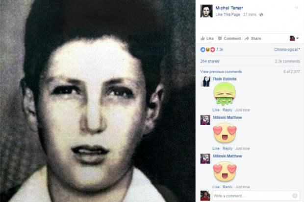 No perfil oficial do peemedebista no Facebook, a foto recebeu 32 mil rea