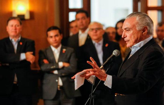 Temer em discurso a chefes de Estado e de Governo na reuni