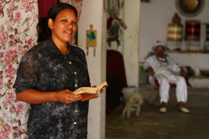 Márcia defende respeito entre religiões e também diz ser vítima. Foto: Peu Ricardo/Esp. DP