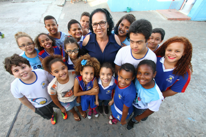Escola ao lado de terreiro prega convivência pacífica entre diferentes credos. Foto: Rafael Martins/DP