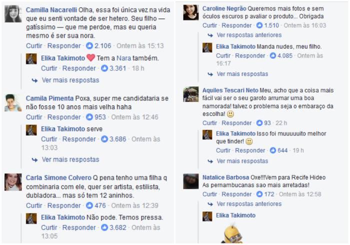 Não demorou para que as pessoas ficassem curiosas em relação ao filho da Elika. Foto: Reprodução/Facebook