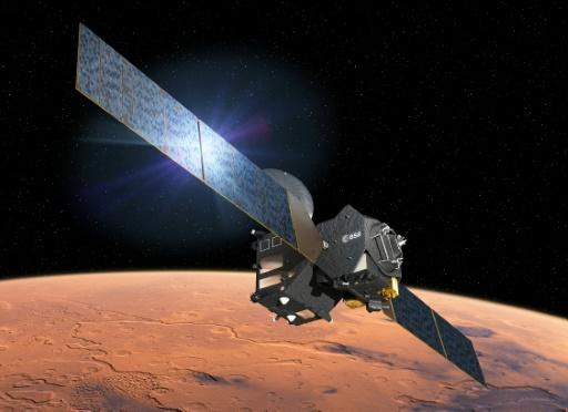 O módulo atingiu a superfície marciana com uma velocidade muito mais alta do que a pretendida (EUROPEAN SPACE AGENCY/AFP/Arquivos D. Ducros)