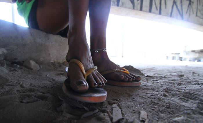 Fernanda (nome fictício) tem dois filhos e diz que não pretende deixar o crack. Foto: Peu Ricardo/Esp/DP