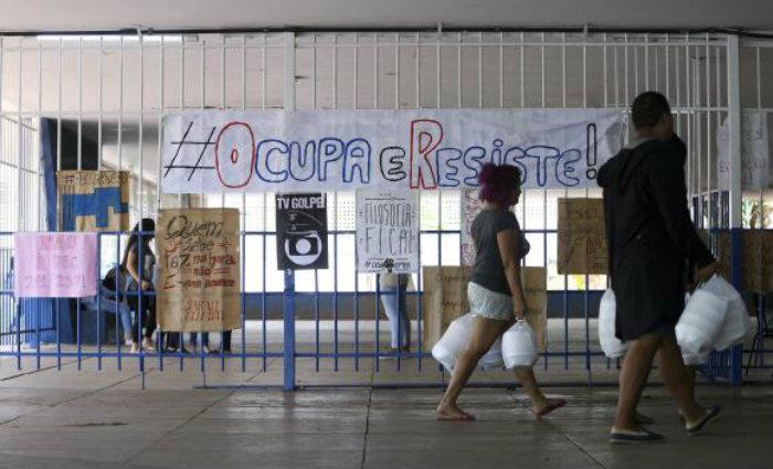 Estudantes ocupam Centro de Ensino Médio Elefante Branco, em Brasília. Foto: Marcelo Camargo/Agência Brasil