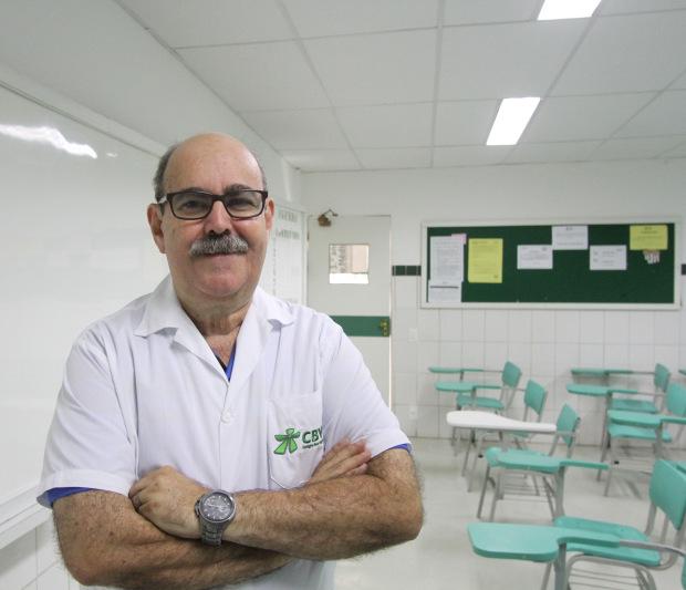 O professor João Tavares, do CBV, destacou o assunto ecologia. Foto: Nando Chiappetta/DP.