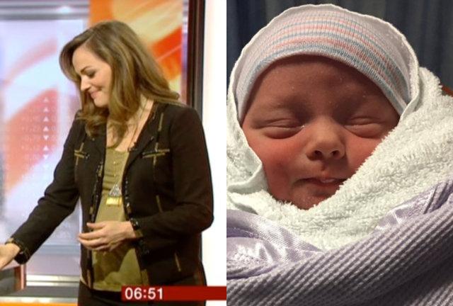 Jornalista deu parto a um menino. Foto: Youtube/Reprodução e Twitter/Reprodução