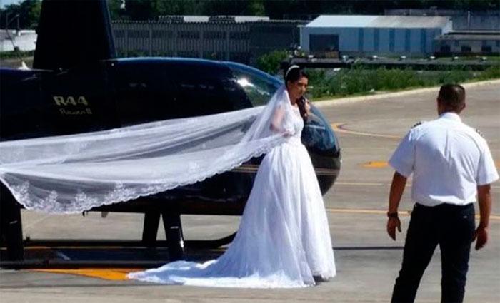 Além da noiva e do piloto, faleceram na queda a fotógrafa contratada para a festa, que estava grávida, e o irmão da noiva. Foto: Facebook/Reprodução