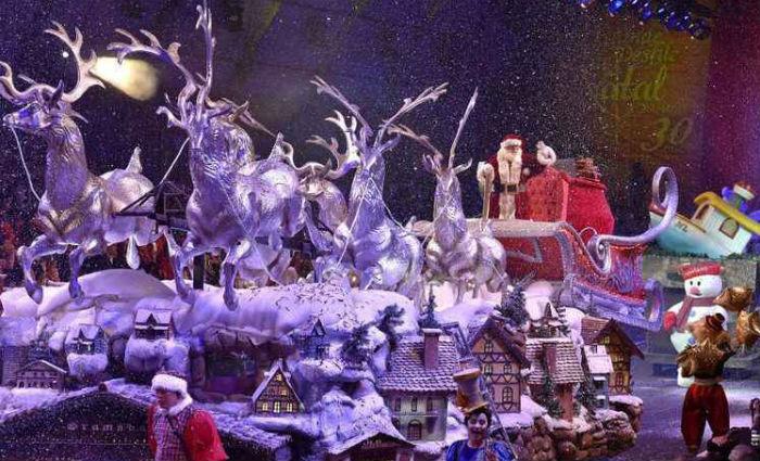 Uma das festas brasileiras mais tradicionais é o Natal Luz de Gramado, no Rio Grande do Sul. Foto: Prefeitura de Gramado/Divulgação