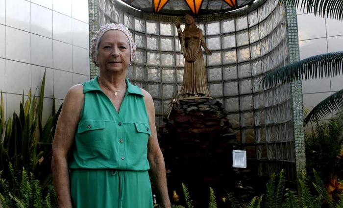 Mãe Celeste mantém um templo há 50 anos no bairro do Ipsep. Foto: Shilton Araújo/Esp DP