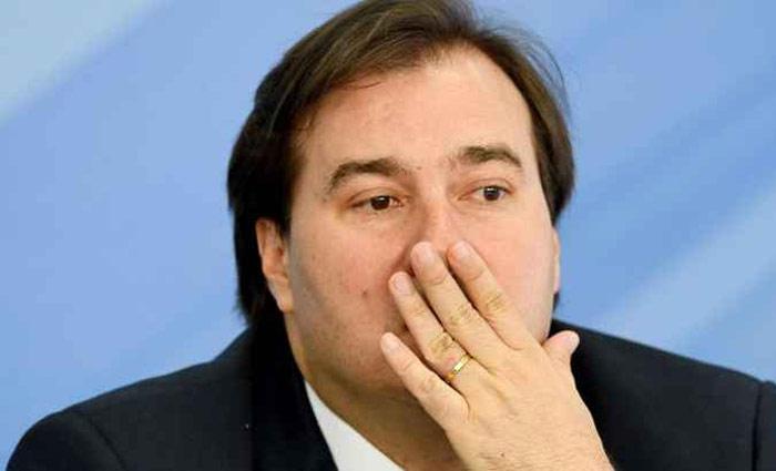 Maia: eleito para mandato tampão, presidente da Câmara quer a reeleição. Foto: Evaristo Sa/AFP