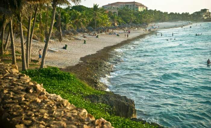 A praia de Varadero, em Cuba, no dia 21 de agosto de 2010. Foto:STR/AFP/Arquivos