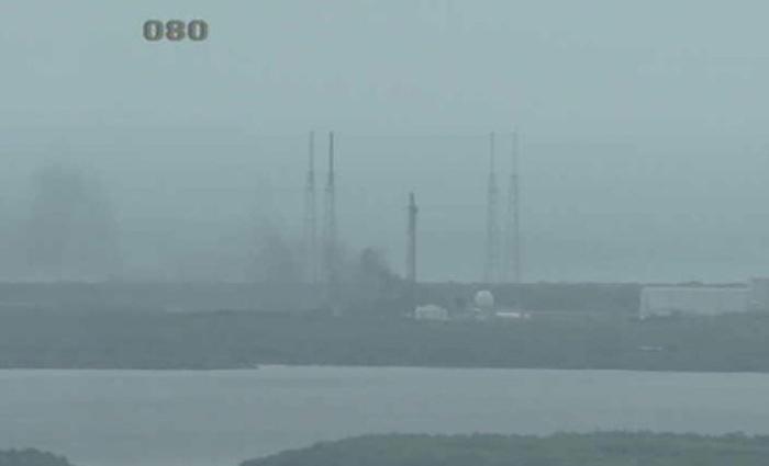 Imagem da Nasa de 1 de setembro de 2016 de explosão de foguete Falcon 9 em Cabo Canaveral. Foto: Ho/Nasa TV/AFP/Arquivos