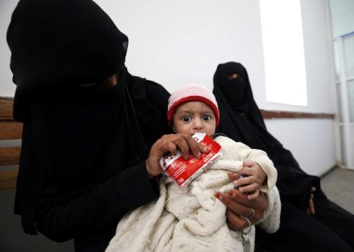 """""""Desde a escalada do conflito, as Nações Unidas verificaram que cerca de 1.400 crianças foram mortas e mais de 2.140 feridas"""", declarou representante da Unicef no Iêmen. AFP/Arquivos Mohammed HUWAIS"""