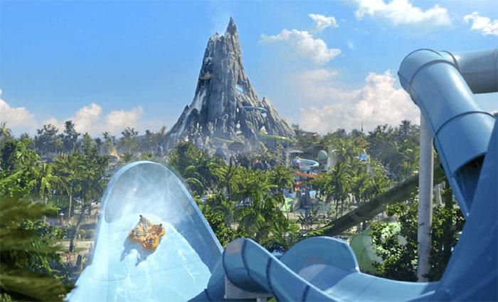 Parque aquático Volcano Bay é uma das novas atrações do Universal Orlando Resort. Foto: Divulgação