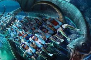 Kraken é o nome da montanha-russa virtual do Sea World. Foto: Divulgação