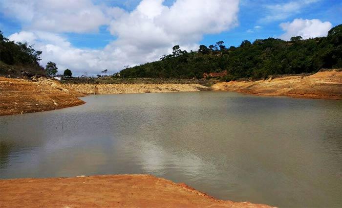 A barragem está operando com apenas 5% da sua capacidade. Foto:Compesa/Divulgação