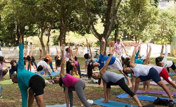 """O encontro """"Yoga para Todos""""� tem o objetivo de difundir o yoga como ferramenta de equilíbrio do corpo e da mente. Foto: Divulgação"""