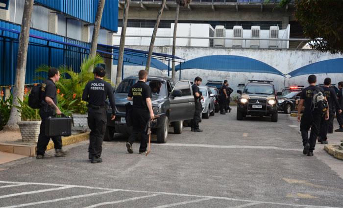 Ao todo, a Polícia Federal cumpre dez mandados nesta terça, sendo quatro conduções coercitivas, quando os investigados são levados para depor. Foto: Polícia Federal/ Divulgação