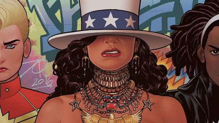 Também conhecida como Miss America, America Chavez tem visual inspirado em Beyoncé na nova publicação. Crédito: Marvel/Divulgação