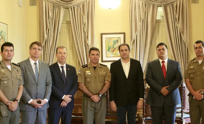 Assumirão os comandos da PM e Polícia Civil o coronel Vanildo Maranhão e o delegado Joselito Amaral, respectivamente. Foto:Wagner Ramos/SEI