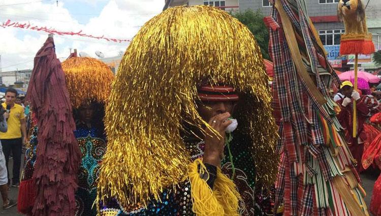 Grupos de maracatu têm integrantes antigos e que brincam há três décadas no Carnaval da cidade na Zona da Mata de Pernambuco (Rafael Martins/Esp. DP)