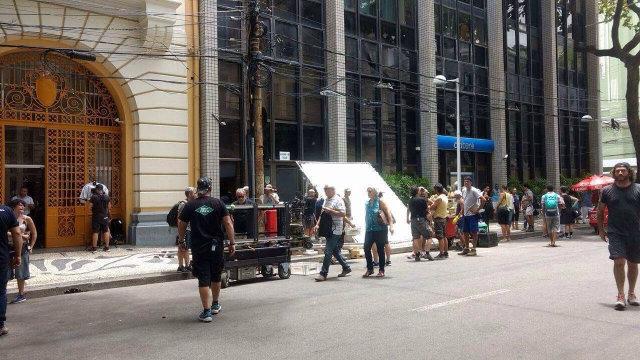 Ruas do bairro foram fechadas para as filmagens. Foto: Matheus Rangel/Esp. DP