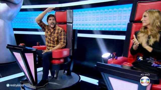 Leo ocupa sozinho o lugar de seu time no reality The Voice Kids.  Foto: Reprodução Twitter
