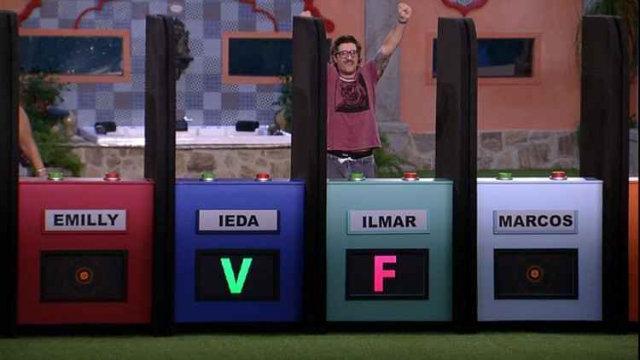 Ilmar conquistou a lideração do Big Brother Brasil pela segunda vez. Foto: Rede Globo/Reprodução