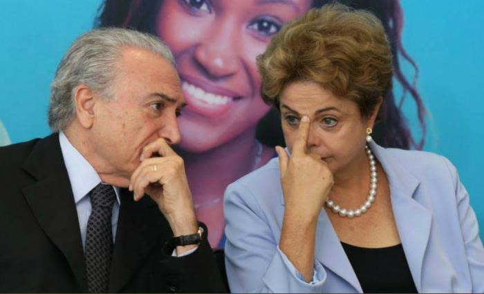 """Dilma usou palavras como """"frágil"""", """"fraco"""" e """"medroso"""" para se referir ao sucessor Foto: Fotos Públicas/Reprodução"""