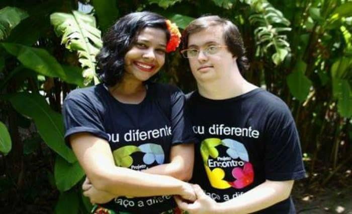 Gabriel Saboia e sua professora de dança Milena, animaram o público do evento. Crédito: Shilton Araújo/DP
