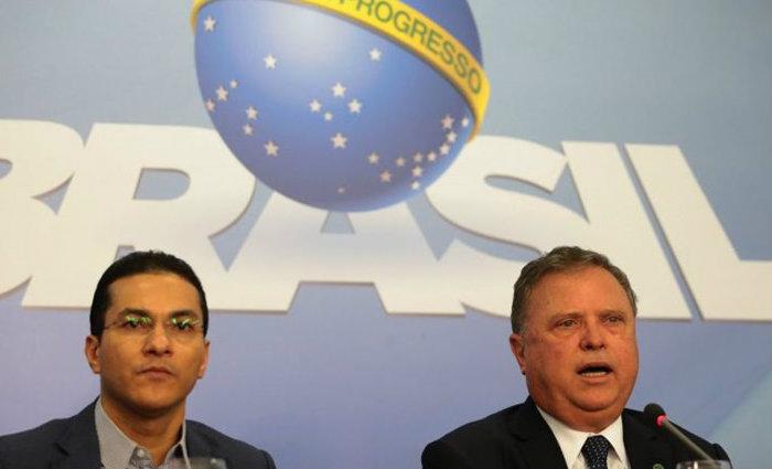 Os ministros da Indústria, Marcos Pereira, e da Agricultura, Blairo Maggi, reagiram à Operação Carne Fraca. Foto: José Cruz/Agência Brasil