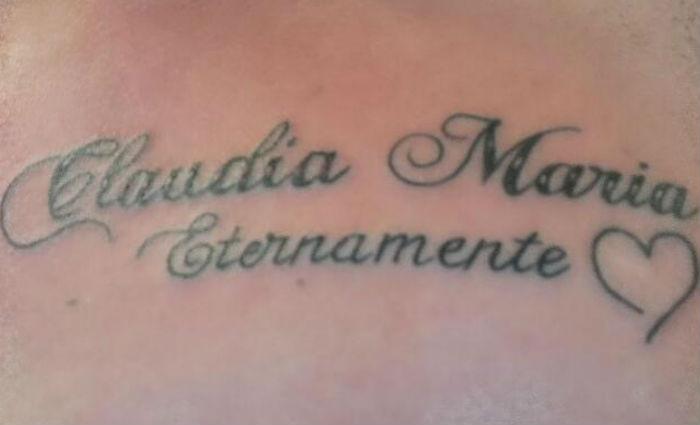 Cleiton tatuou nome da mãe acima do peito.Foto: Reprodução/ WhatsApp