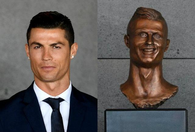 1b4d7bde8f3c9 Artista cria estátua para Cristiano Ronaldo e obra vira meme   Viver:  Diario de Pernambuco