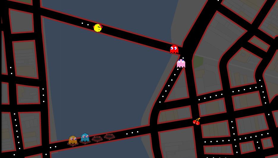 Ms. Pac Man andando pelas ruas do Recife Antigo. Foto: Reprodução/Google Maps