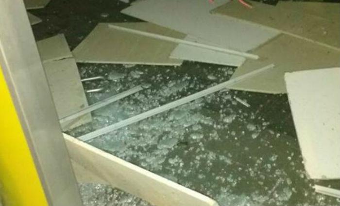 Bandidos explodiram a agência do Banco do Brasil de Serrita. Foto: Reprodução/ WhatsApp