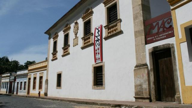 O MAC é alocado em um conjunto de quatro casas tombadas no Sitio Histórico de Olinda. Foto: Isabella Valle/Fundarpe