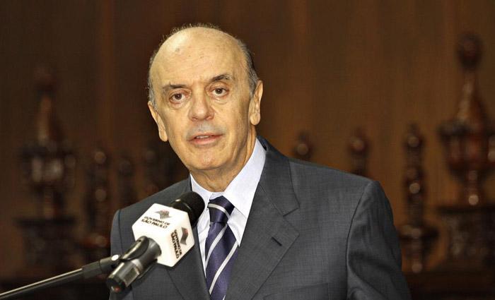 Fachin autorizou que o senador José Serra (SP) seja investigado juntamente com o ministro das Relações Exteriores. Foto: Cris Castelo Branco/Governo do Estado de SP