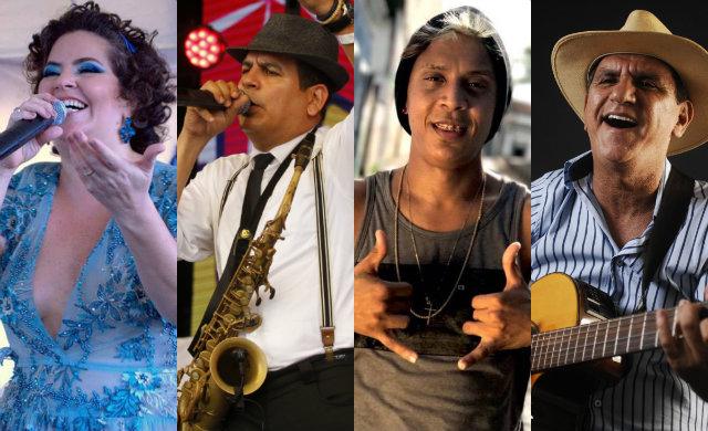 As apresentações se iniciarão às 20h e se estendem até a meia-noite. Fotos: Paulo Paiva/DP, Facebook/Reprodução e Ricardo Fernandes/DP