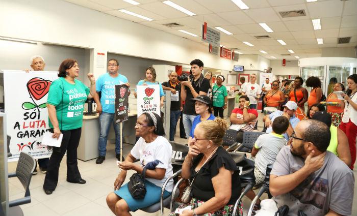 Bancários de Pernambuco participam do Dia Nacional de Mobilização nesta quinta. Foto: Sindicato dos Bancários/ Divulgação