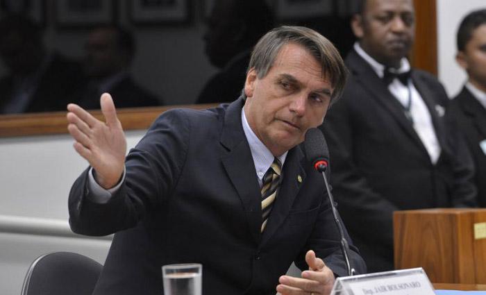 O deputado Jair Bolsonaro aparece com 17% de potencial de voto na pesquisa. Foto: Wilson Dias/Agência Brasil